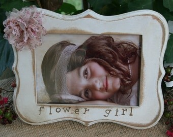 5 x 7 frames / Picture frames / flower girl gifts / ring bearer gifts / flower girls / personalize frames / personalized gifts