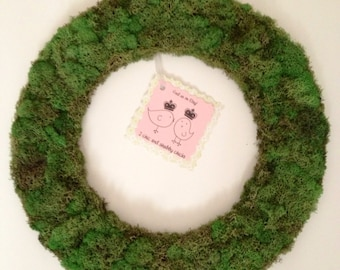 Reindeer moss wreath...