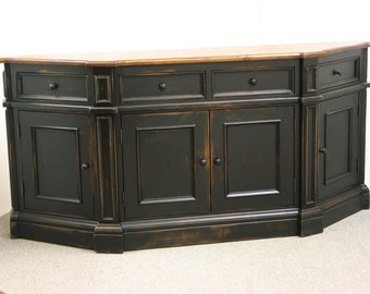 Black TV Stand / Rustic Sideboard / Black Sideboard / Server Table / Black  TV Console