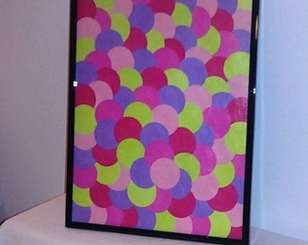 Framed Paint Chip Art - Candy Inspired Colors!