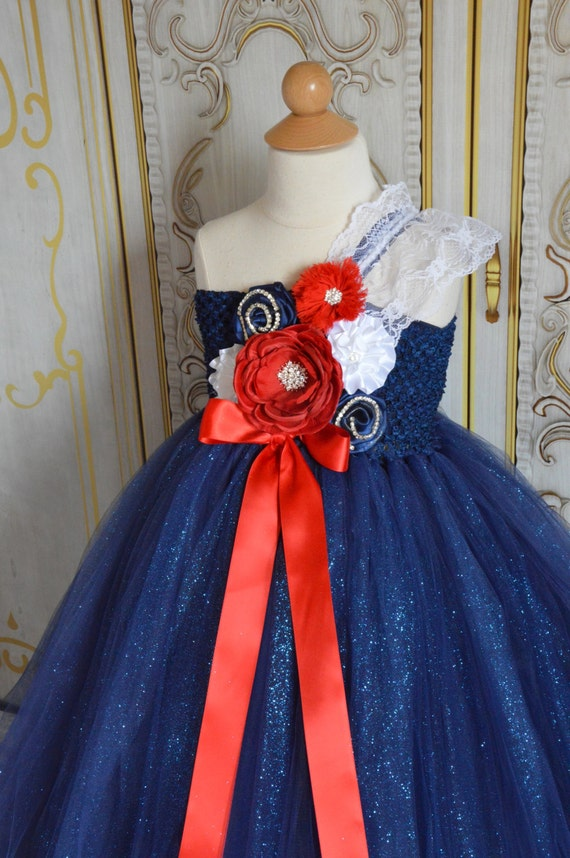 American Beauty Flower girl tutu dress