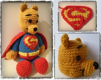 Crochet : patron amigurumi Winnie Superman