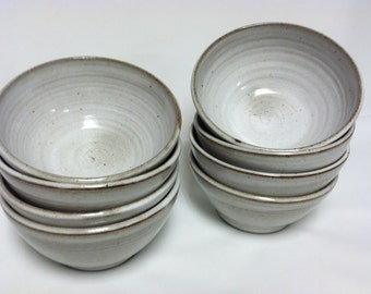 handmade bowls, salad bowl, cereal bowl, soup bowl, wedding registry, white, shabby chic, country kitchen, modern, rustic
