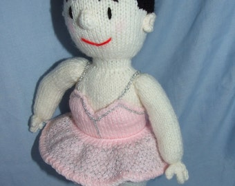 15inch high knitted ballerina doll