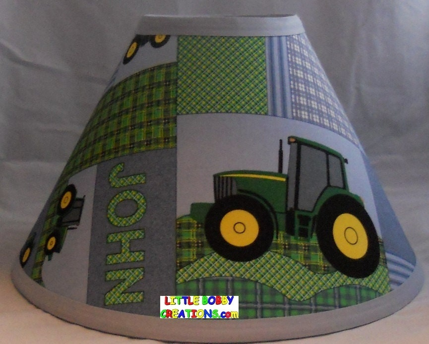 Tractor Lamp Shades : Country tractor fabric lamp shade shades to choose from