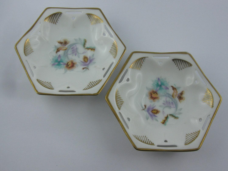 art deco 2 beautiful porcelain dish r c kronach bavaria. Black Bedroom Furniture Sets. Home Design Ideas