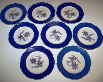 Carlsbad Czechoslovakia Gloria Rucni Prace 8 Plates