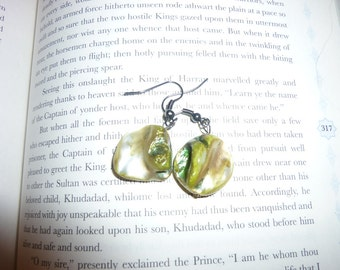 Unique Green Stone Earrings