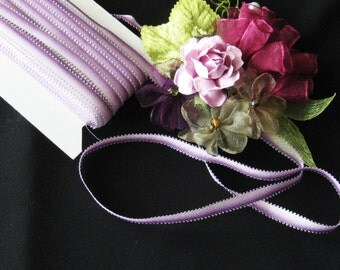 """Rayon Picot Ombre Ribbon - 1/4"""" Wide - Great for Ribbonwork, Crafting & Sewing"""