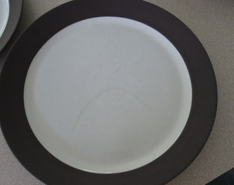 1960s Dansk Flamestone Smooth Brown Matte Luncheon/Salad Plate,  Slightly Discolored, Designed by  Jens Quistgaard