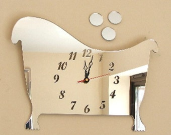 Bath and Bubbles Clock Mirror - 2 Sizes Available
