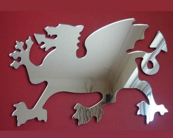 Welsh Dragon Shaped Mirrors - 5 Sizes Available.