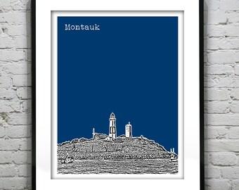 Montauk New York Poster New York Art Print Long Island Lighthouse