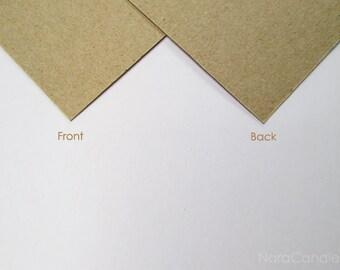 Kraft Business Card, Light Brown Card Set of 100