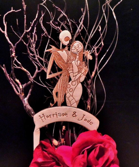 jack and sally wedding cake topper and sally wood wedding cake topper by 16559