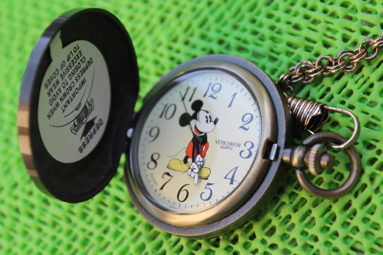 vintage walt disney verichron mickey mouse pocket