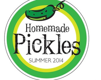 """2"""" Canning Label Pickle Sticker Summer 2014 Canning supply Garden Produce Labels for Canning"""