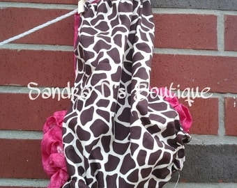Giraffe bubble romper