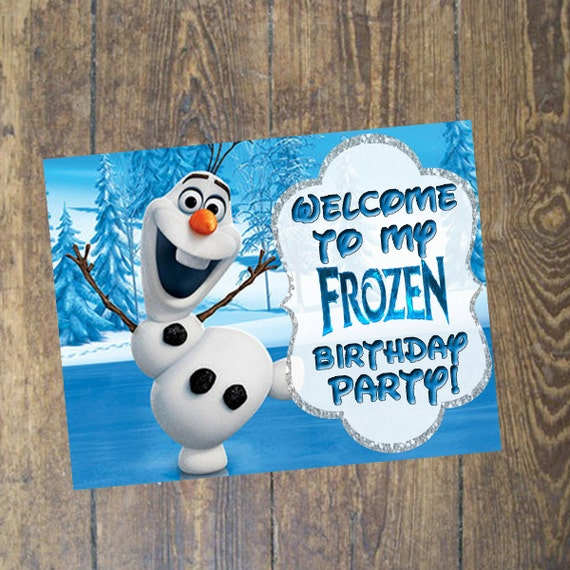 Items Similar To Frozen Birthday Welcome Sign Banner On Etsy