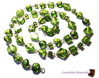 necklace quiet forest green