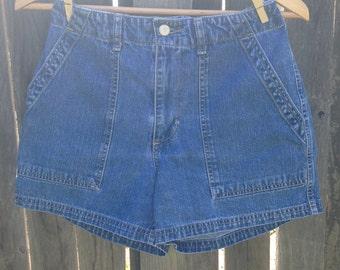 High Waisted Denim Shorts S/M