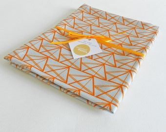 Tea Towel in Geometric Triangle Design