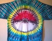 Tie Dye Pokemon T-Shirt--XL!