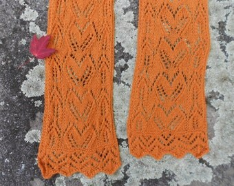 Fall Foliage Lace Scarf