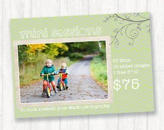 Mini Session Template for Photographers, Mini session Photography Templates, Photography Marketing Board, Marketing Template Photoshop, c129
