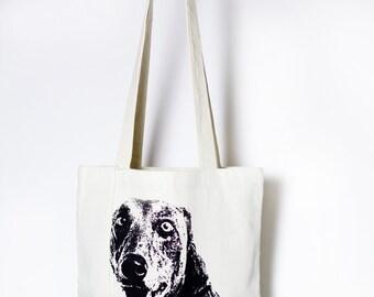 RUPERT • tote bag • screenprint • handmade • 100% unbleached sturdy cotton • shopper • illustration • dog • stories