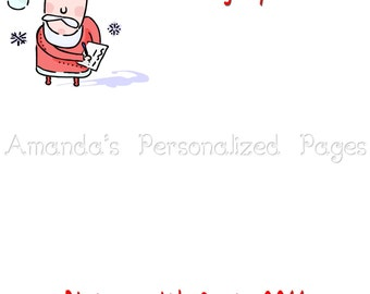 12x12 1-page Personalized Scrapbook  Paper (Christmas 8)