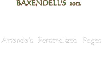 12x12 1-page Personalized Scrapbook  Paper (Christmas 9)