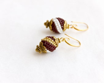 Bargain sale. Price reduced by %50. Beaded earrings  Charm   Jewelry Beadwork gift