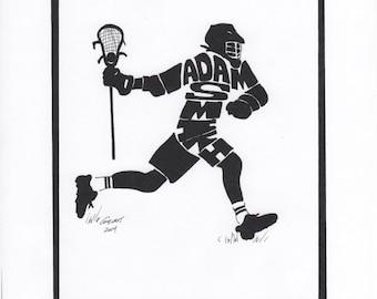 Personalized Sport Figure -  Lacrosse Men's
