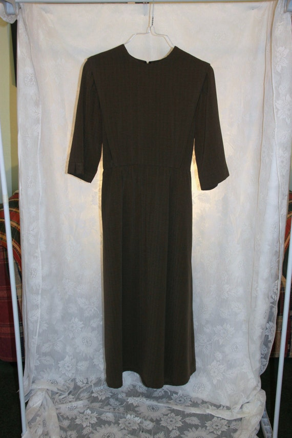 mennonite brown cape dress