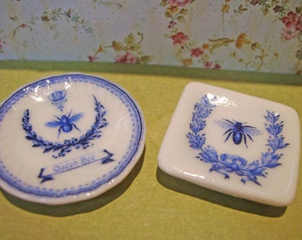 French Style Miniature Plate 1:12 scale Dollhouse