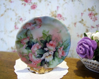 Limoges Style Miniature Plate 1:12 scale