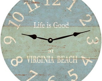 Beach Clock- Personalized Beach Clock