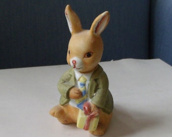 Ceramic Easter Bunny Dressed Up