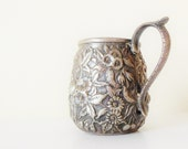 Sterling Silver Cream Pitcher Floral Repousse S Kirk&Son