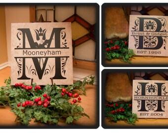 """12"""" x 12"""" Split Monogram Tile, Ceramic"""