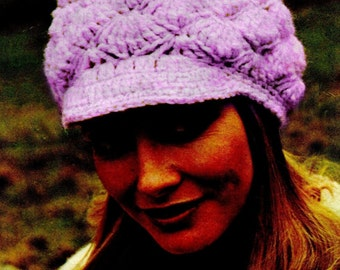 Crochet Patterns Galore - Women's Peaked Cap. - Crochet