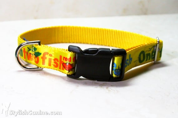 Unavailable listing on etsy for Fish dog collar
