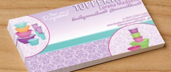 Tupperware business cards tupperjen card business tupperware tupperware cards business tupperware to card on etsy similar items business colourmoves Images