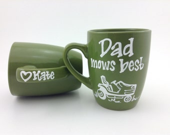Dad Mows Best Father's Day Coffee Mug