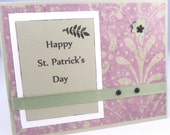 St. Patrick's Day Card - Handmade Card - Happy St. Patrick's Day - Pretty Card - Blank Card - Black Accents - Green Card - Hand Stamped - PrettyByrdDesigns