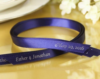 Imprinted personalized ribbon for Weddings, 25pc , for Birthdays, Baby showers, Anniversary or Any Event