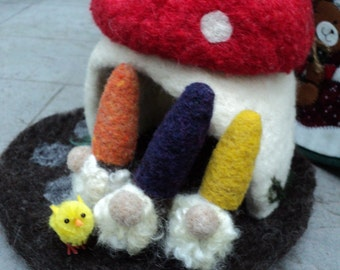 Needle Felted Gnome Home