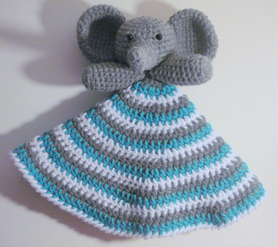 Free Pattern Crochet Lovey : Elephant Lovey PDF Crochet Pattern INSTANT DOWNLOAD