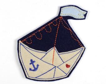 Patch pirate ship boat 9,5 x 8,5cm